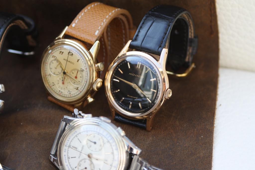movado gold chronograph
