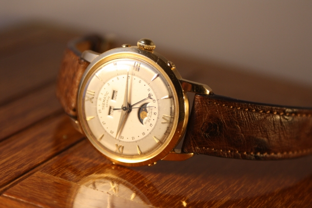trematic moon phase watch