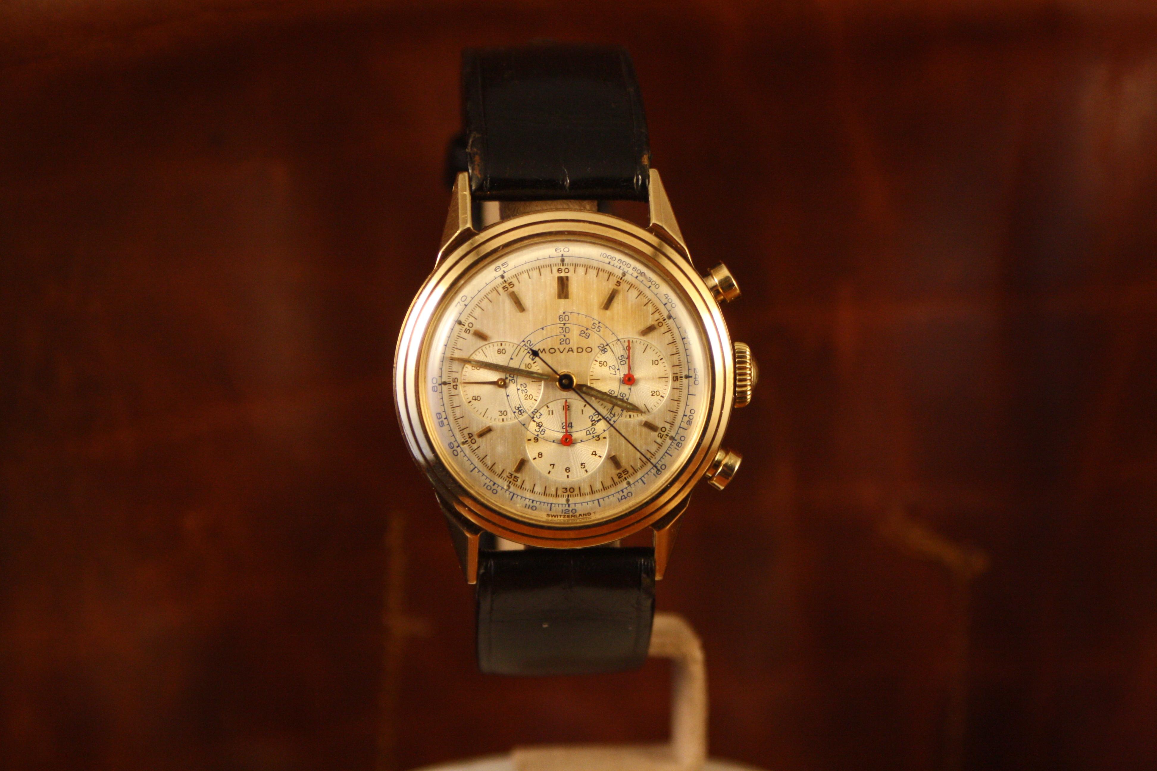 movado gold chrono