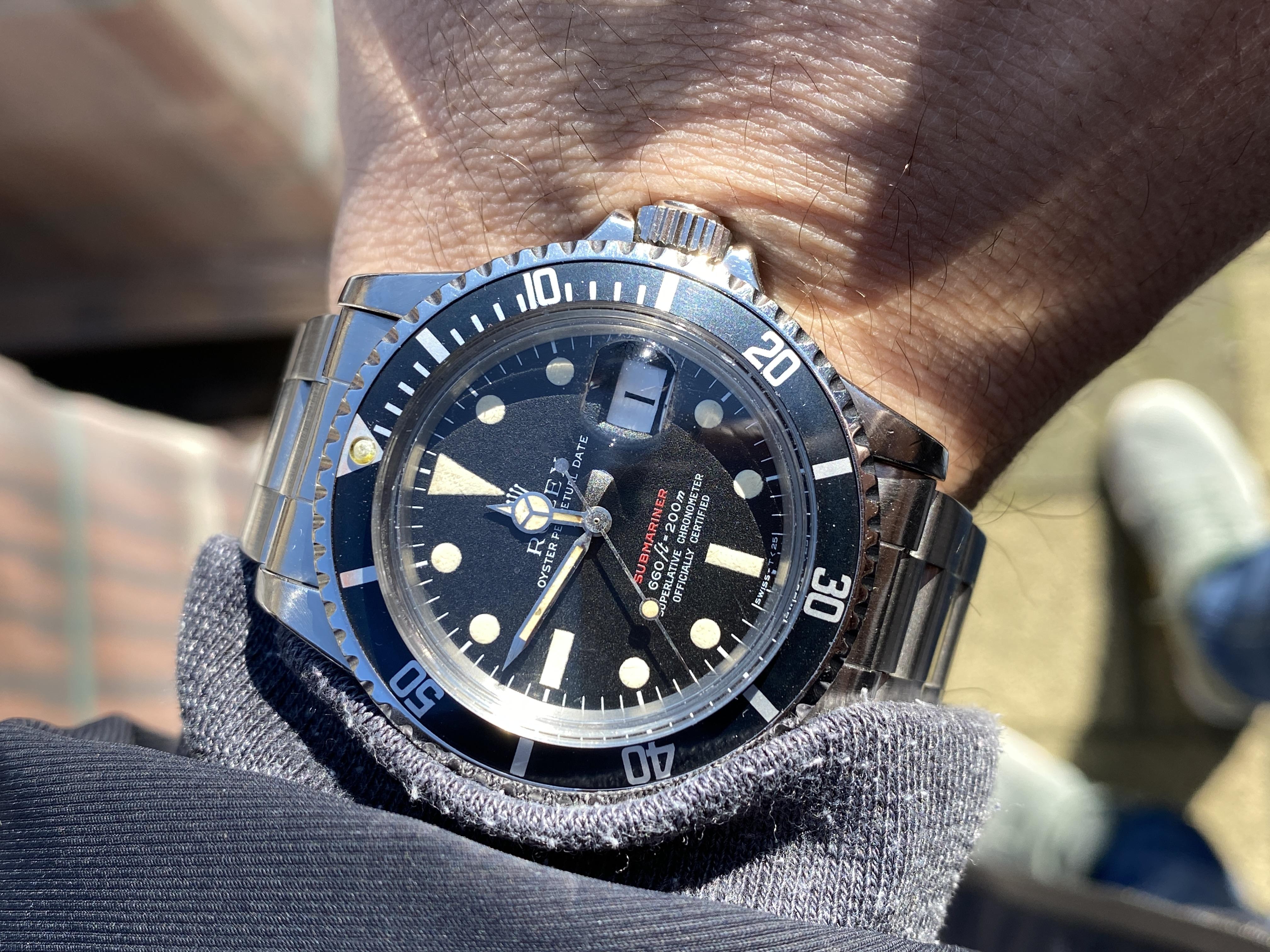 Submariner wristshot
