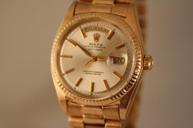 rolex pink gold dial