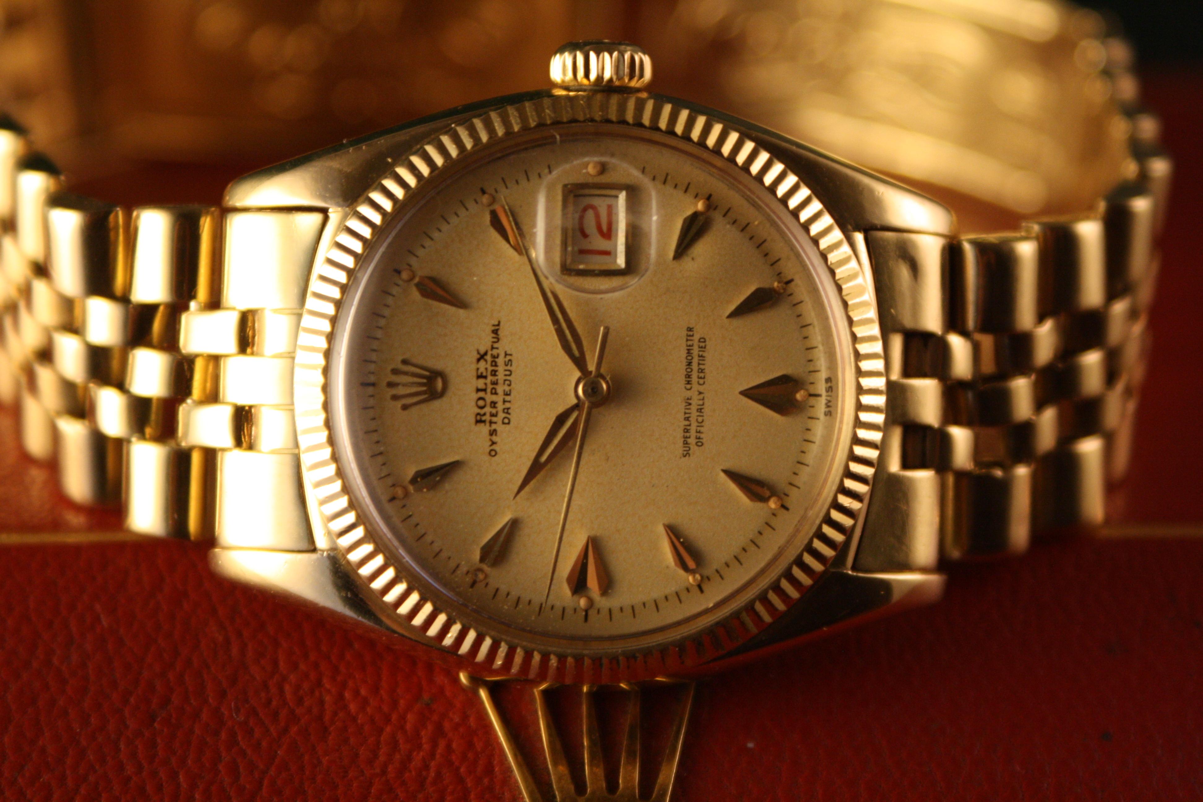 Rolex 6605 yellow gold