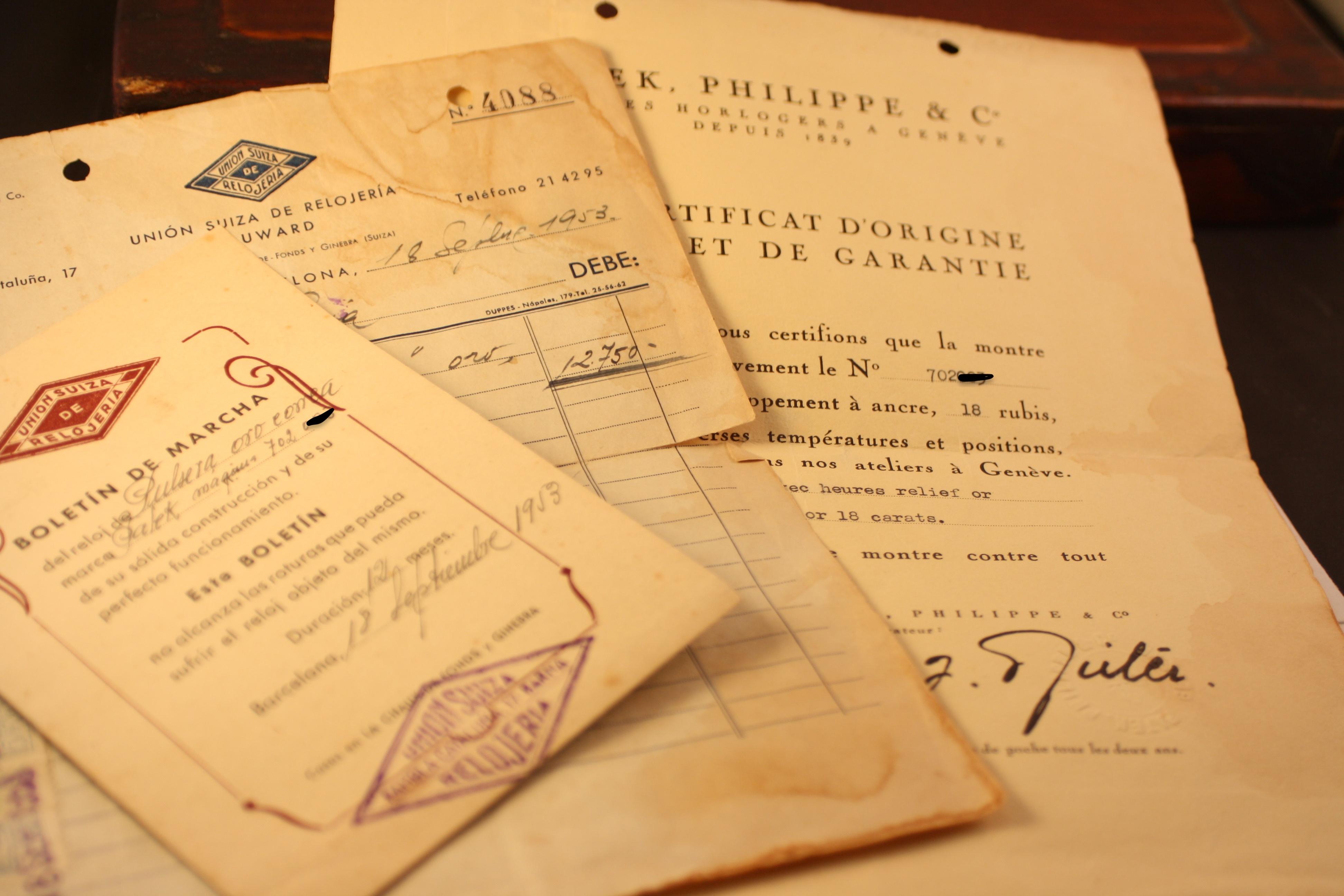 documents patek 2508