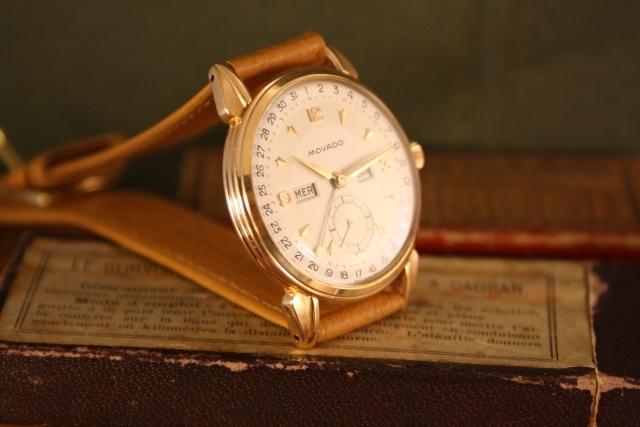 gold movado vintage