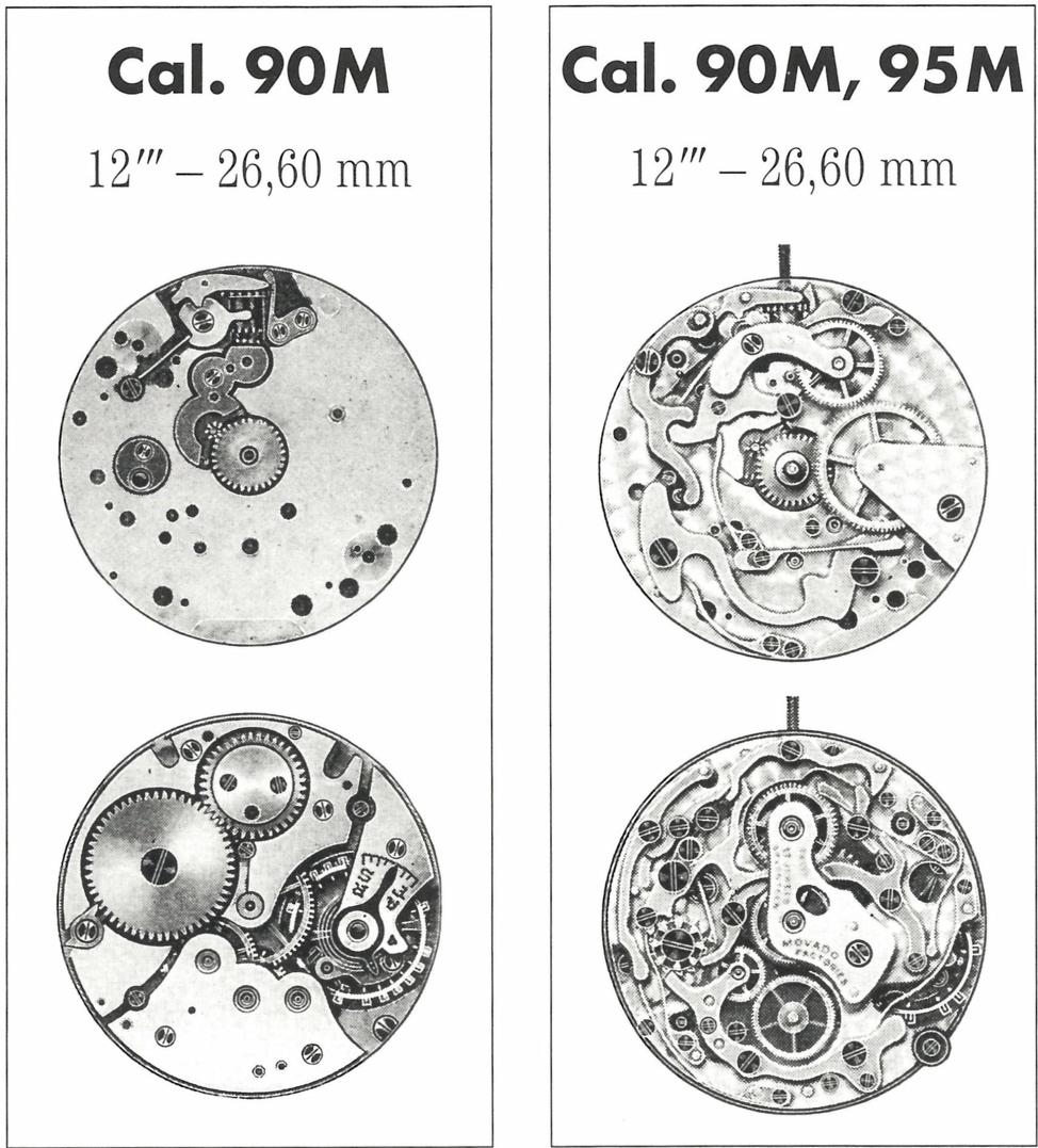 movado chronograph calibers