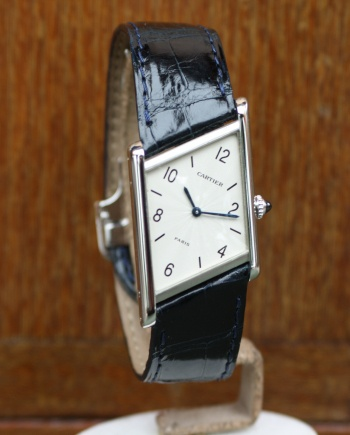 cartier asymétrique platinum wristwatch