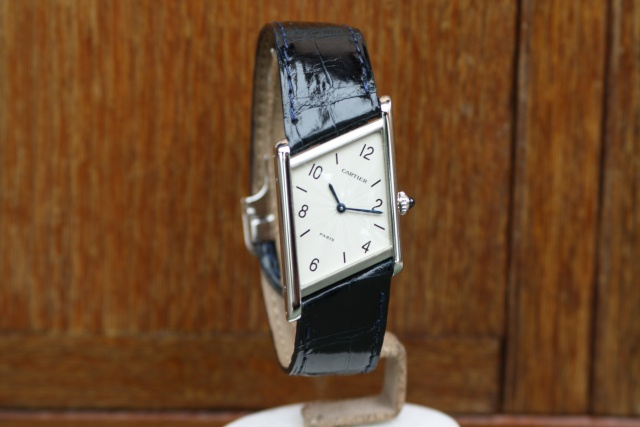 cartier asymétrique platinum wristwatch