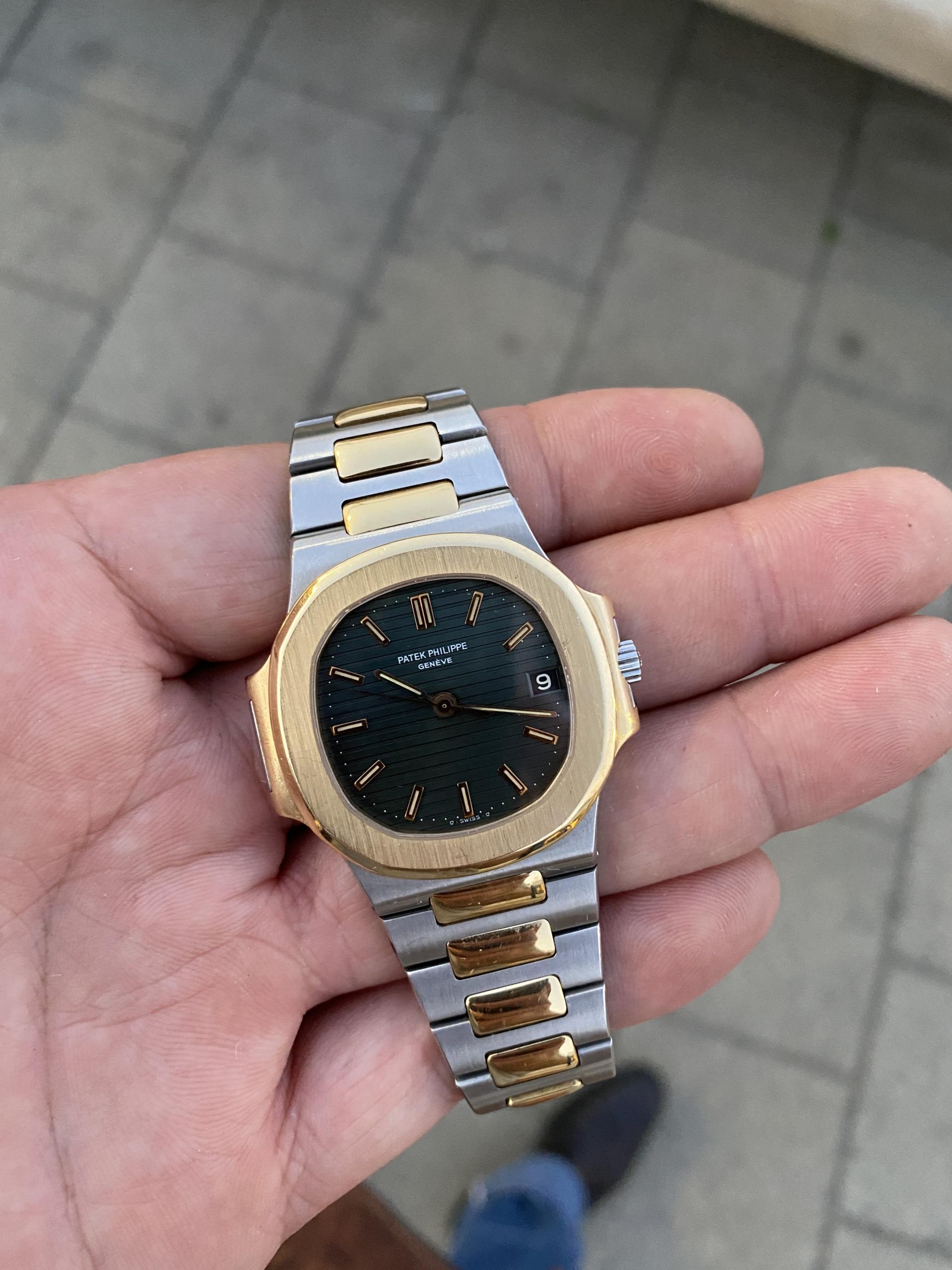 patek 3800 nautilus watch midsize