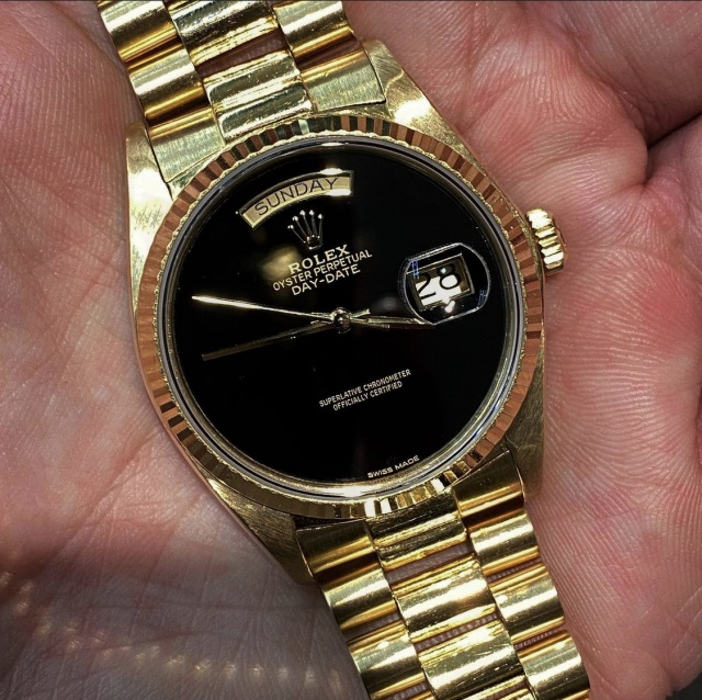rolex onyx dial day date